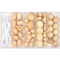 Beech Wood Bead Jewellery Kit