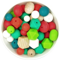 Silicone and Wood Bead Mystery Pack - Christmas
