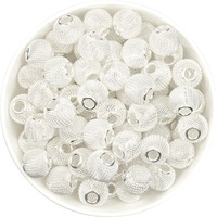 Hollow Mesh Beads 16mm - Silver