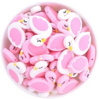 Flamingo Silicone Bead