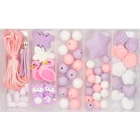 Silicone Bead Jewellery Kit - Pink Flamingo