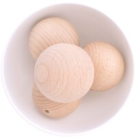 Beech Wood Beads - 45mm Round