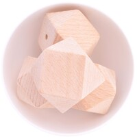 Beech Wood Beads - 40mm Hexagon