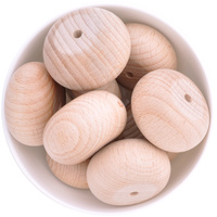 Beech Wood Beads - 45mm Abacus