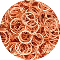 DISCONTINUED 50pk 26mm Keyring - Rose Gold