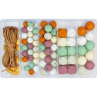 Silicone Bead Jewellery Kit - Autumn Hues