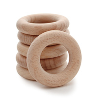 Beech Wood Teething Ring 65mm