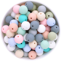 15mm Round Beehive Silicone Bead