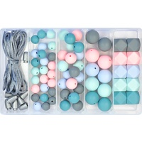 Silicone Bead Jewellery Kit - Teal Rose