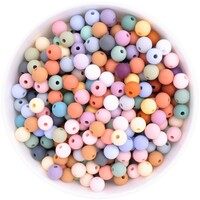9mm Round Silicone Bead