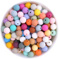 12mm Round Silicone Bead