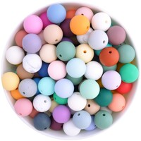 15mm Round Silicone Bead