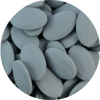 Faceted Flat Oval Dim Grey