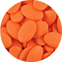 Faceted Flat Oval Orange