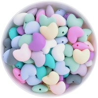 Heart Silicone Bead