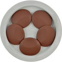 DISCONTINUED Large Flat - Chocolate 4pk