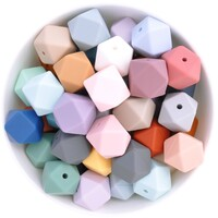 17mm Hexagon Silicone Bead