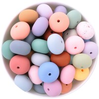 22mm Abacus Silicone Bead
