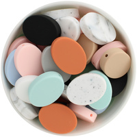 Oval Disc Silicone Bead