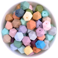 14mm Hexagon Silicone Bead