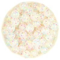 Clear Confetti Silicone Beads - 3 sizes available