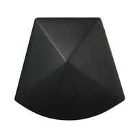 Big Faceted Pendant Bead Smokey Black