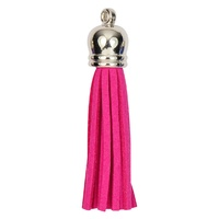 SILVER TOP Tassels - Hot Pink