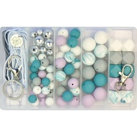 Deluxe Silicone Bead DIY Kit - Teal Dreams