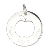 Charm Teacher Stainless Steel 18mm - Apple