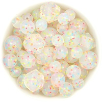 Clear Confetti Silicone Bead Value Pack