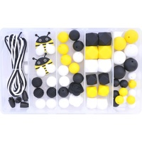Silicone Bead Jewellery Kit - Bumblebee