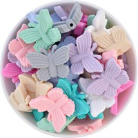 Butterfly Silicone Bead - Fluttering