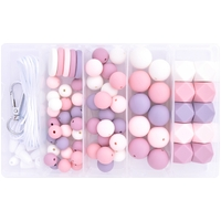Coin Silicone Bead Jewellery Kit - Heirloom Rose