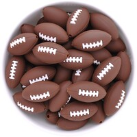 American Football Silicone Bead