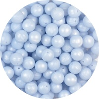 15mm Round - Pearl Baby Blue