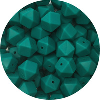 17mm Hexagon - Ocean Green