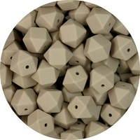17mm Hexagon - Taupe