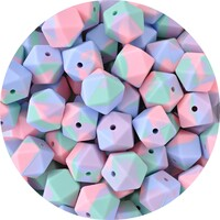 17mm Hexagon - Tie-Dye Pastel