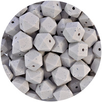 17mm Hexagon - Stone Granite