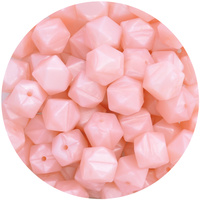 17mm Hexagon - Pearl Baby Pink