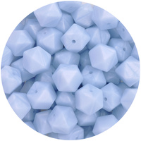 17mm Hexagon - Pearl Baby Blue