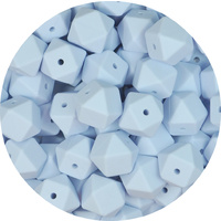 17mm Hexagon - Baby Blue