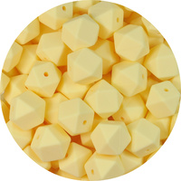 17mm Hexagon - Butter Yellow