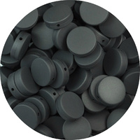 Round Disc - Smokey Black