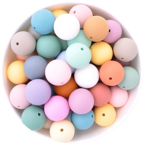 19mm Round Silicone Bead